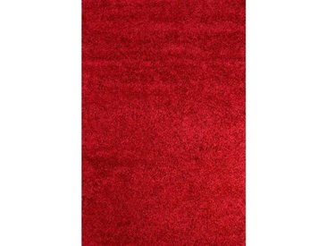 Teppich Retro Shaggy Plain in Rot