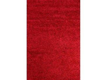 Teppich Retro Shaggy Plain in Rot