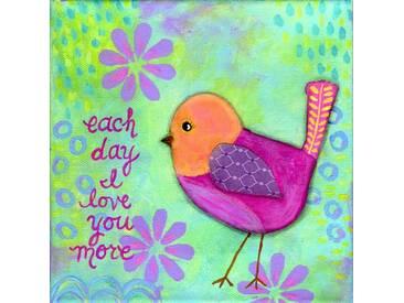 """Leinwandbild """"Bird Amber"""" von Jill Lambert, Kunstdruck"""