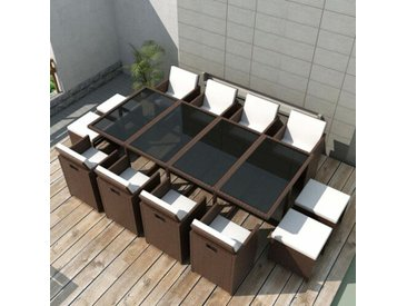 12-Sitzer Gartengarnitur Denys mit Polster