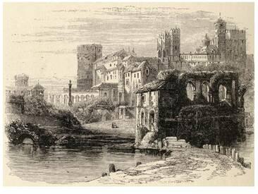 Gerahmter Kunstdruck Prison of the Inquisition, Cordoba, Spain, from Spanish Pictures, von Reverend Samuel Manning, Published in 1870
