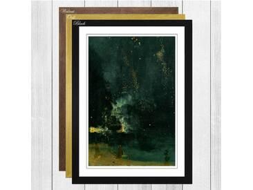 Gerahmtes Poster The Falling Rocket von James Abbott McNeill Whistler