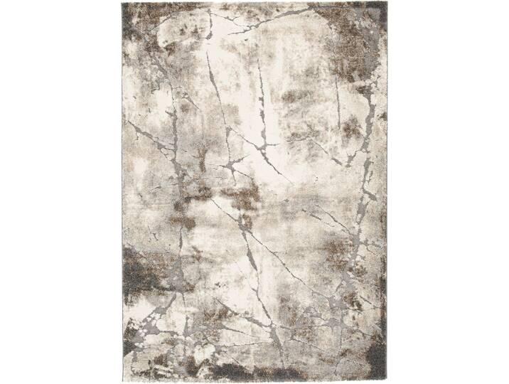 Teppich Roco in Hellgrau Grau