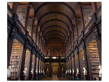Bibliothek Trinity College Dublin Fotodruck auf Glas