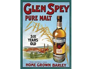Glen Spey Pure Malt Vintage Werbung auf Metall