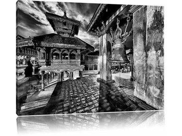 Leinwandbild Mystische Stadt in Monochrom