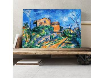 "Leinwandbild ""Landscape and Houses (1) Kunstdruck von Paul Cézanne"