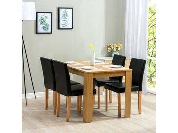 Essgruppe Boville mit 4 Stühlen