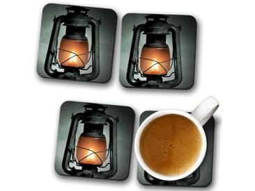 Glasuntersetzer-Set Kerosene Lamp