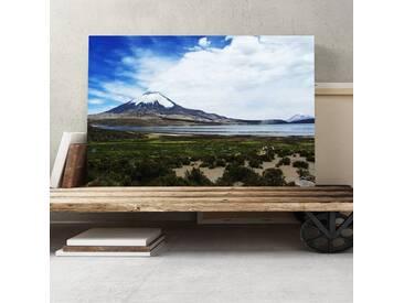 "Leinwandbild ""Landscape Volcano Parinacota Chile, Fotodruck"
