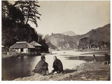 """Poster """"Village Near Yokohama"""" von Wilhelm Burger, Fotodruck"""