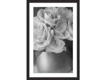 Gerahmtes Papierbild Country Bouquet in Grey von Judy Stalus in Grau