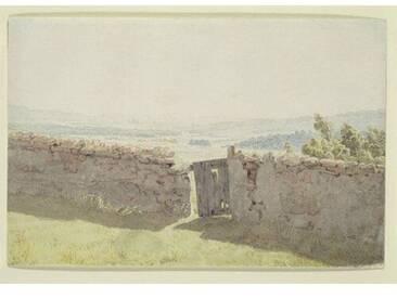 """Gerahmtes Wandbild """"Gate in the Garden Wall"""" von Caspar David Friedrich, Kunstdruck"""
