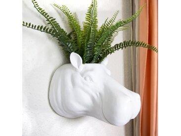 Hippo Blumentopf Wanddekoration
