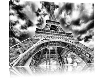 Leinwandbild Prächtiger Eifelturm in Paris in Monochrom