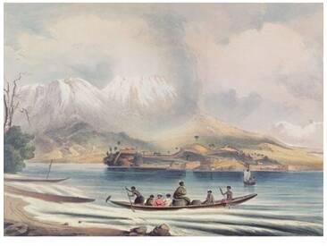 Leinwandbild Tongariro Volcano, New Zealand, Kunstdruck