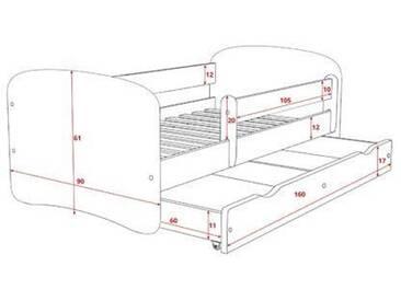 Funktionsbett Centeno mit Matratze und Schublade