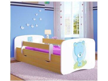 Funktionsbett Cate mit Matratze und Schublade