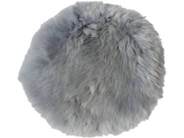 Handgefertigter Teppich Hides & More aus Schafsfell in Grau
