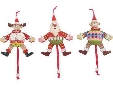 3-tlg. Dekorationsfiguren-Set Hampelmänner Christmas