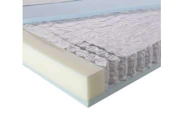 Taschenfederkernmatratze, Breckle Maxim, 7-Zonen, 19 cm Höhe, 2 Schichten