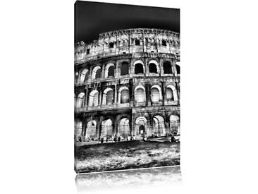 Leinwandbild Colosseum in Rom Italien Italy in Monochrom