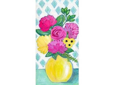 """Leinwandbild """"Vase"""" von Jill Lambert, Kunstdruck"""