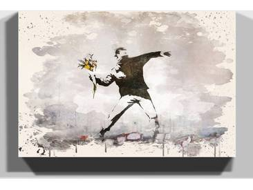 Leinwandbild Flower Thrower von Banksy