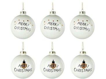 Weihnachtskugel Merry Xmas