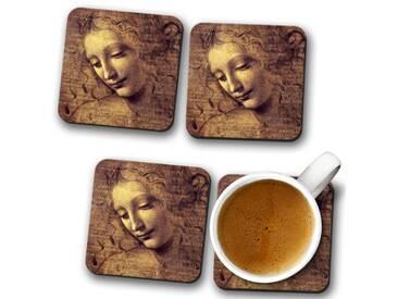 Glasuntersetzer-Set Leonardo da Vinci La Scapigliata