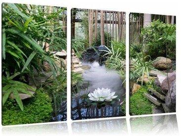 3-tlg. Leinwandbilder-Set Zen garten japan, Fotodruck