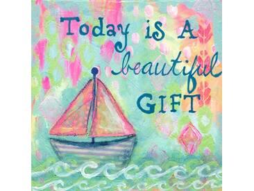"""Leinwandbild """"Today is a Gift"""" von Jill Lambert, Kunstdruck"""