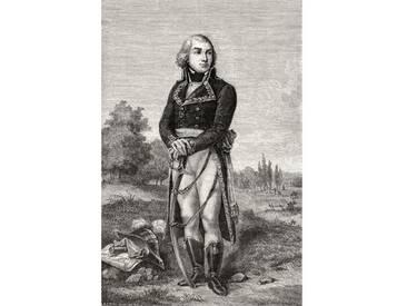 Poster Jean-Baptiste Jourdan, from Histoire de la Revolution Francaise, Kunstdruck von Louis Blanc
