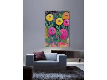 Leinwandbild Flowers at Midnight von Jill Lambert
