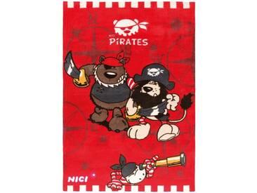 Teppich Nici Pirates in Rot