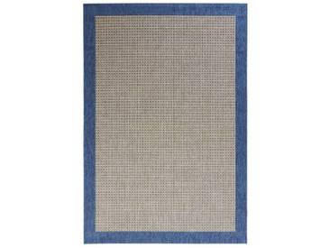 Teppich Natural in Blau