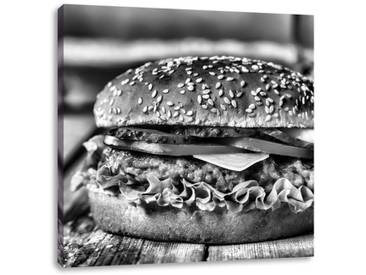 LeinwandbildBurger Hamburger Cheesburger Käse Fast Food