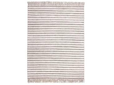 Handgefertigter Teppich Natura in Creme