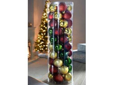 50-tlg. Weihnachtsbaumkugel-Set