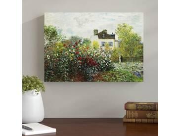 """Leinwandbild """"Garden in Argenteuil Kunstdruck von Claude Monet"""