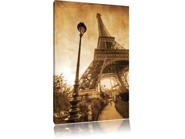 Leinwandbild ,,Pariser Eifelturm Retro, Grafikdruck
