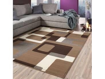Teppich Hamla in Braun/Creme