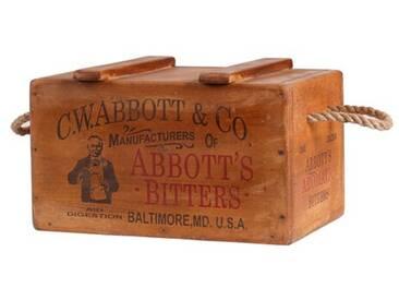 Kiste Charleville G W Abbott and Co. aus Massivholz