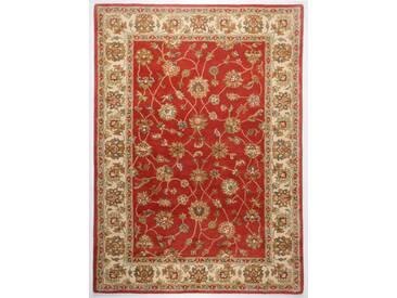 Handgefertigter Teppich Classic aus Wolle in Rost