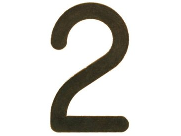 Hausnummer pulverbeschichtet