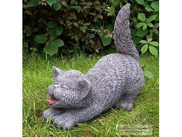 Statue Katze mit erhobenem Schweif