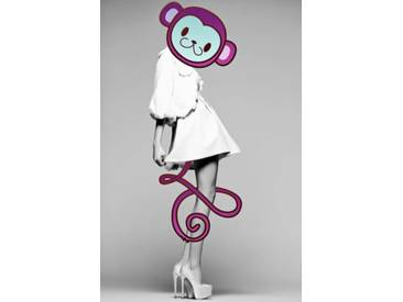 Leinwandbild Funky Monkey, Grafikdruck