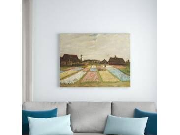 Leinwandbild Blumenbeete in Holland von Vincent Van Gogh