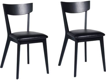 Esszimmerstuhl-Set Hagert aus Massivholz