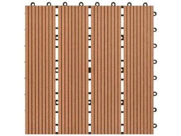 30 cm x 30 cm Terrassenfliese aus WPC Holz